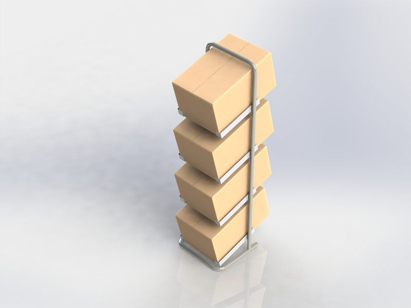 FLOOR STAND FOR BOXES
